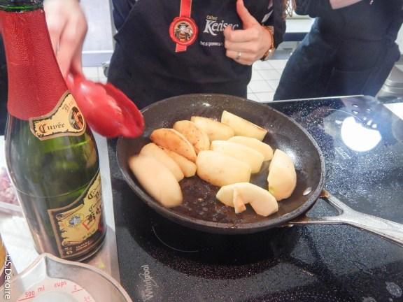 Pommes pour le filet canette Kérisac cidre à L'atelier des Chefs Nantes @Terroir Evasion
