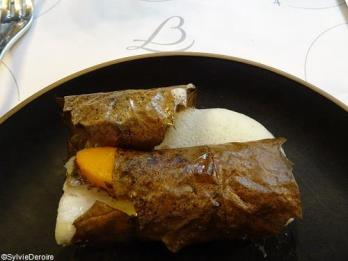 Merlu au potimaron et épices cit en feuille de châtaigne Terroirevasion.com