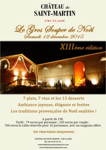 Gros Souper Noel 21015 Chateau de saint Martin Terroirevasion.com