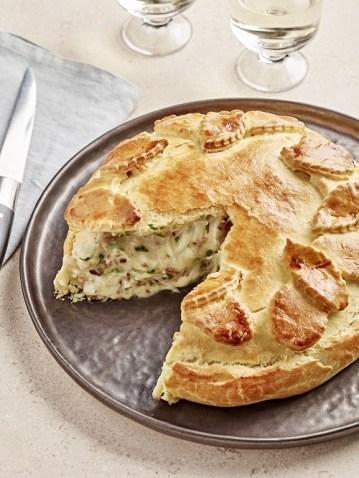 Reblochon farci aux ch+ótaignes en croute brioch+® -« Alexandre Bibaut