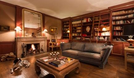 Chateau de Courban bibliotèque