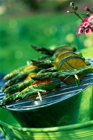 CAUVIN - Brochettes d'asperges vertes aux deux citrons - Huile COLZA & OLIVE - (c) Paquin Photocuisine TerroirEvasion.com