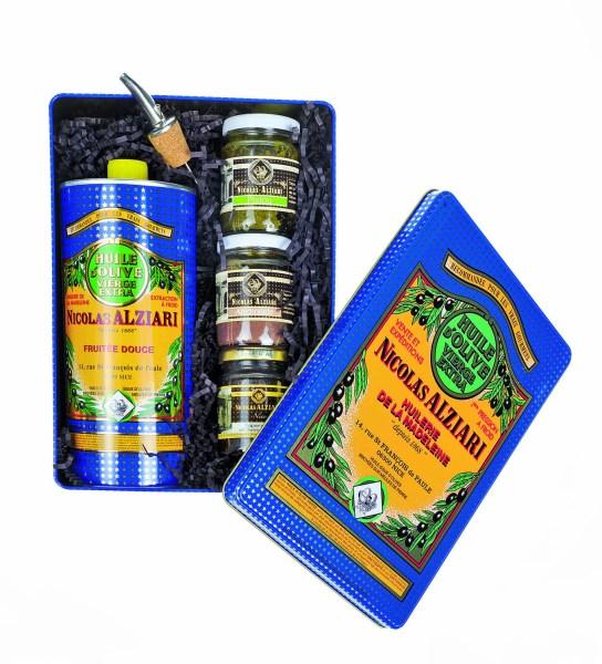 coffret Alziari huile tapenade olives