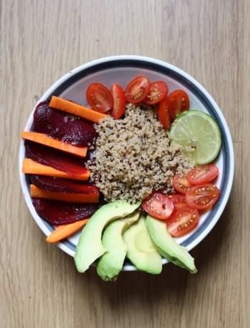 Quinoa recette Boudha Bowl