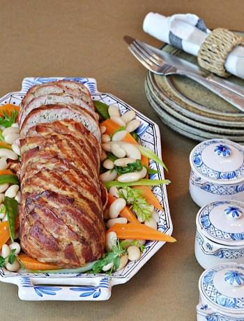 Pain de viande d'agneau, Haricots Tarbais & petits légumes