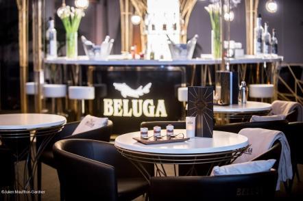 Vodka Beluga Trianon Palace Versailles table buffet