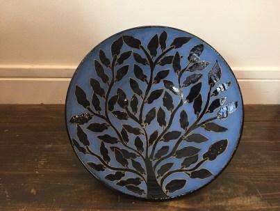 Grand plat bleu Comptoir Azur