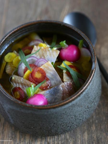 Harengs et pommes de terre à l'huile d'olive