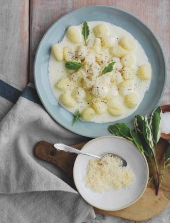 Gnocchisde pommes de terre à la crème de Parmigiano Reggiano