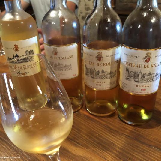 Vins liquoreux de Bordeaux -Château de Rolland - Romain Garcia - dégustation en 5