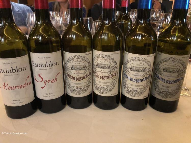 Château d'Estoublon Gamme des vins