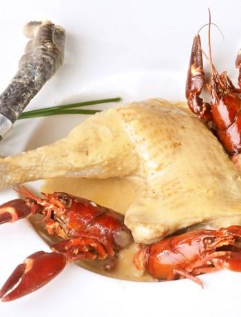 poulet de Bresse à la crème et ecrevisses_CIVB