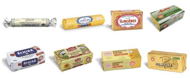 Beurre de Charentes Poitou - Les huit marques