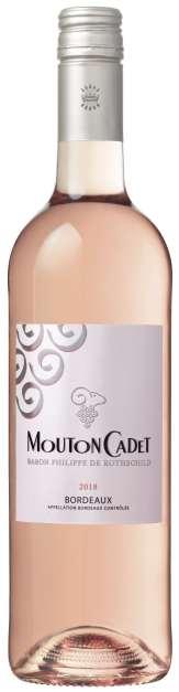 Vins rosés à prix doux - Mouton Cadet Rosé 2018 - Baron Philippe de Rothschild - AOC Bordeaux