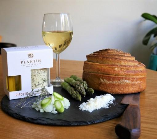 Risotto aux cèpes et à la truffe d'été Plantin et asperges vertes