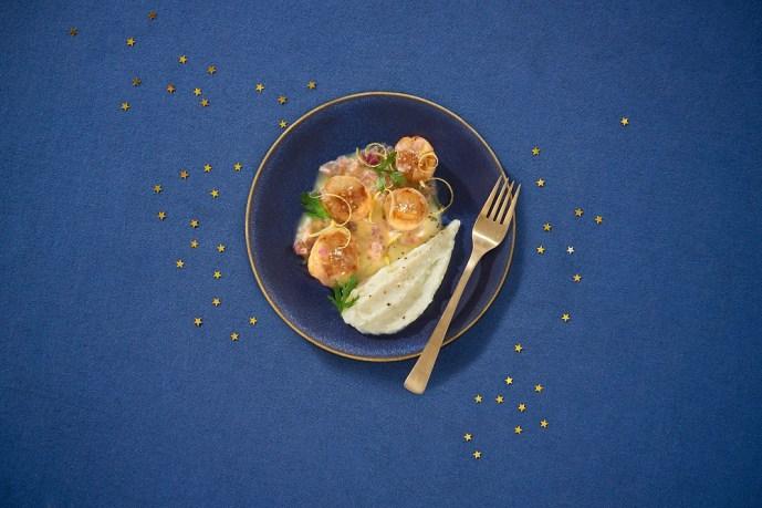Aldi France un menu de Noël gourmand -Saint_Jacques_grillees_au_beurre_citronne