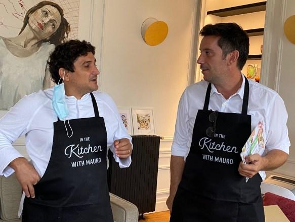 Kitchen Daily Vincent Guillet fondateur et le chef Mauro Calogreco