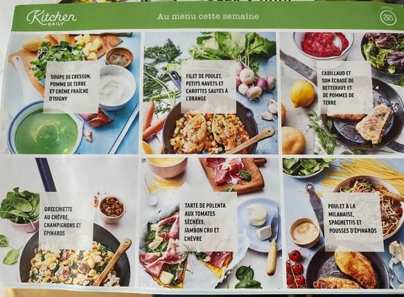 Kitchen Daily menu semaine pour kit à cuisiner
