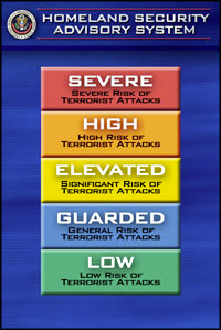 Homeland Security Terror Chart