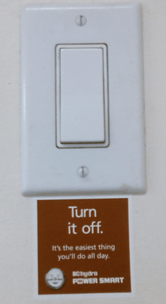 Apartment light switch