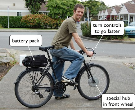 Jesse and his electric bike