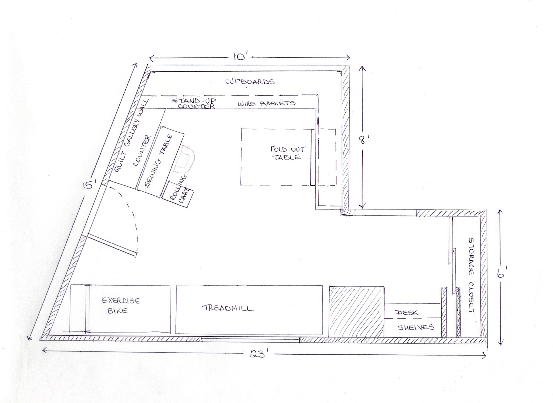 Room Floor Planner my quilt studio | terry aske art quilt studio