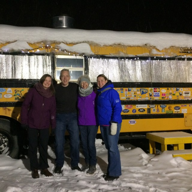 The kitchen at Alestine's in Inuvik - is in the bus!