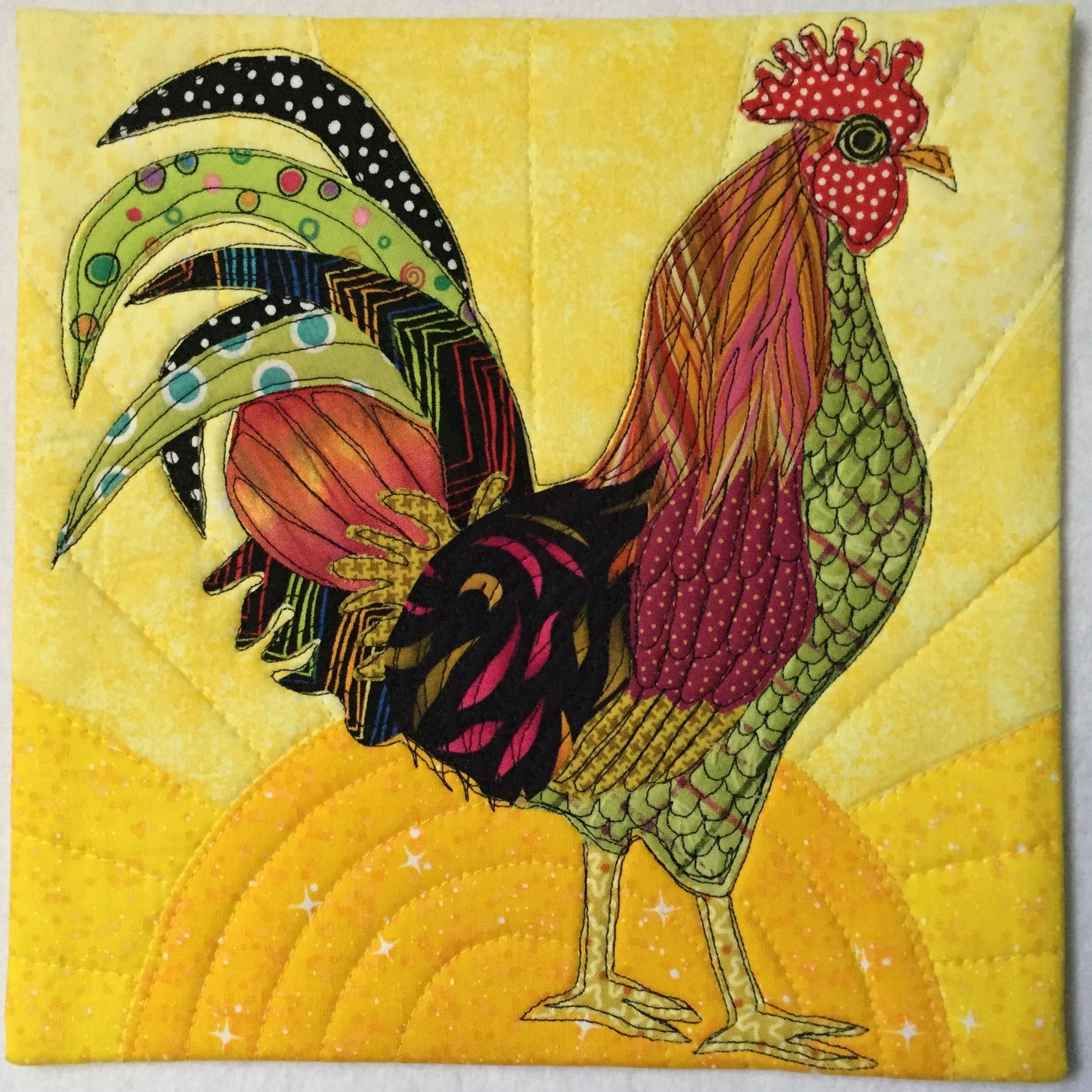 year of the rooster u2013 2017 04 23 terry aske art quilt studio