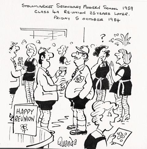 The Stowmarket Secondary Modern School Photo taken in 1955