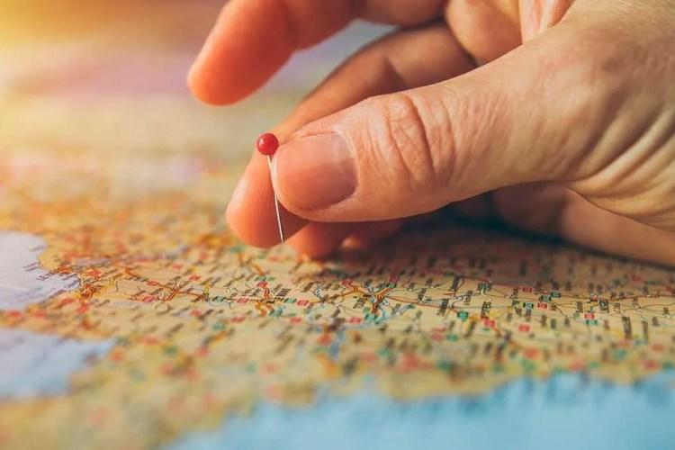 Mapa de itinerario cultural