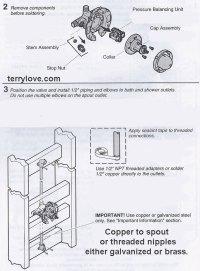Installing a Kohler Rite-Temp bath & shower valve, K-304 ...