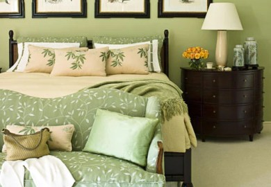 Green And Brown Bedroom Decor