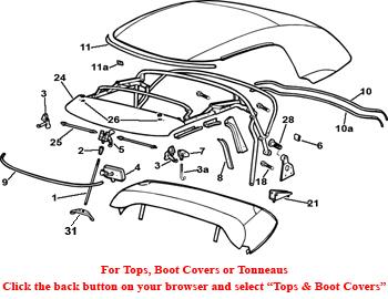 Convertible Hardware and Trim: Terrys Jaguar Parts