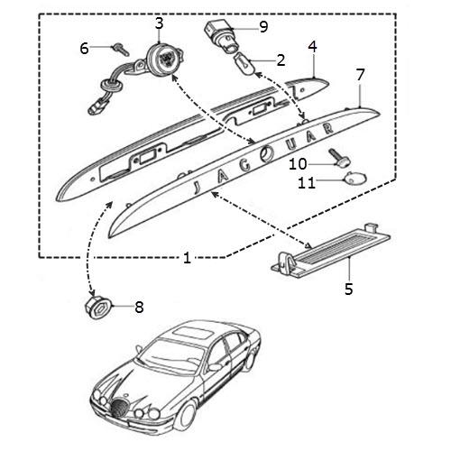 Number Plate Lamp Assembly: Terrys Jaguar Parts