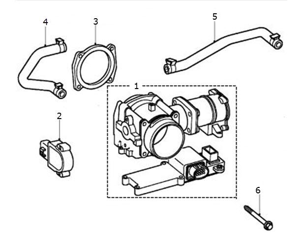 Throttle Body to Vin (M45254): Terrys Jaguar Parts