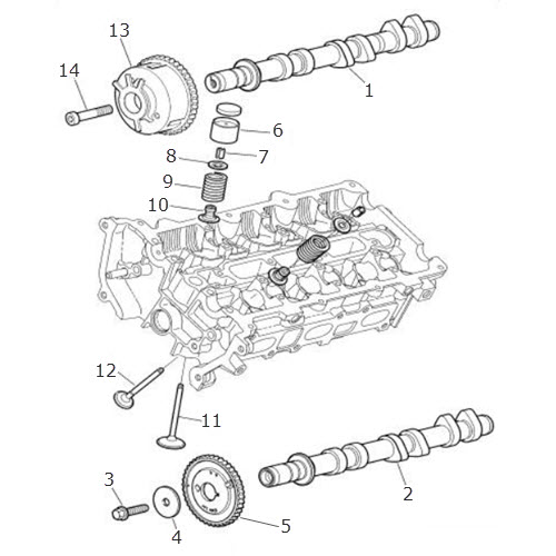Camshaft and Valves- V6-Petrol: Terrys Jaguar Parts