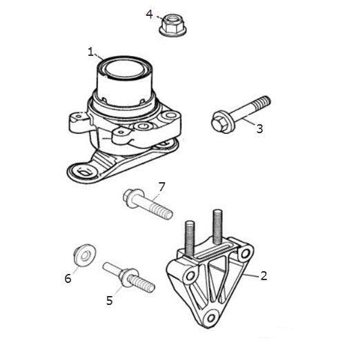 Engine Mounting Front Diesel: Terrys Jaguar Parts