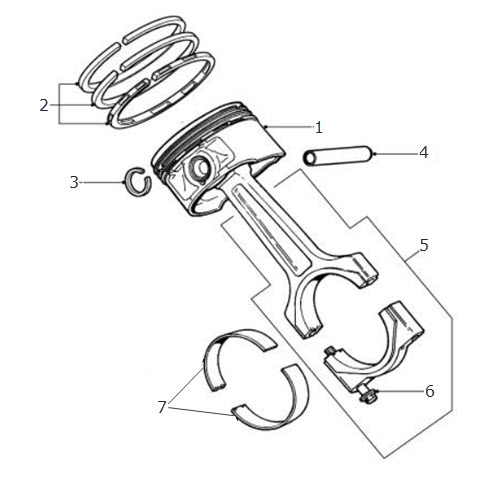 Piston and Connecting Rod V6 Petrol: Terrys Jaguar Parts