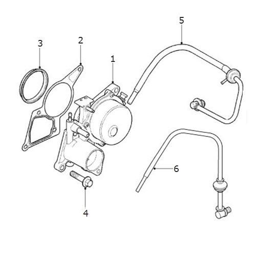 Vacuum Pump and Hoses-Diesel: Terrys Jaguar Parts