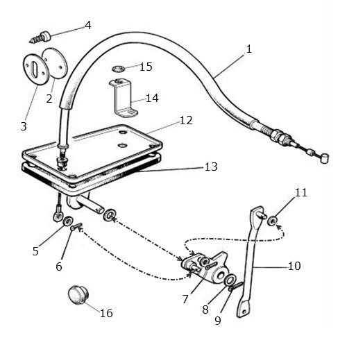 Accelerator Cable, LHD, 3.6 Litre: Terrys Jaguar Parts