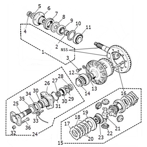 Final Drive Unit Components: Terrys Jaguar Parts