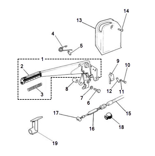 Handbrake Assembly and Cables: Terrys Jaguar Parts
