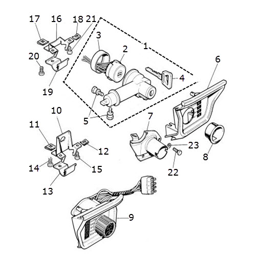 Steering Column Lock and Light Switch: Terrys Jaguar Parts