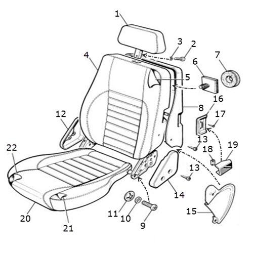 Seat, Front, Autolux Leather: Terrys Jaguar Parts