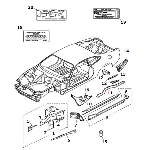 Front Valance and Rear Longitudinal: Terrys Jaguar Parts