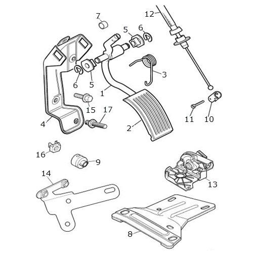 Accelerator Pedal Assembly: Terrys Jaguar Parts