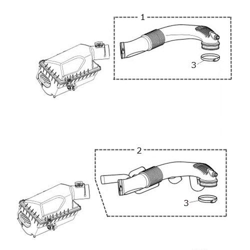 Air Inlet Hoses 4.0 Liter V8: Terrys Jaguar Parts