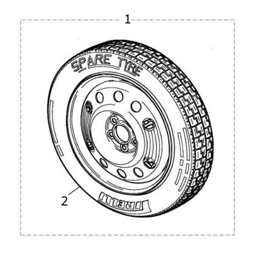 Spare Wheel and Tire: Terrys Jaguar Parts
