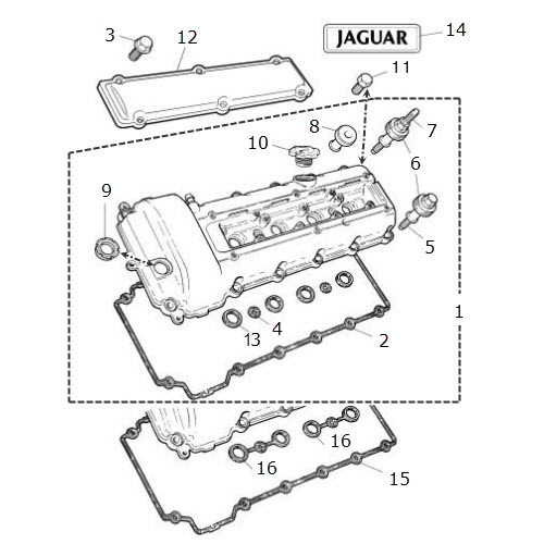 Camshaft Cover and Gasket 4.0 Liter V8: Terrys Jaguar Parts