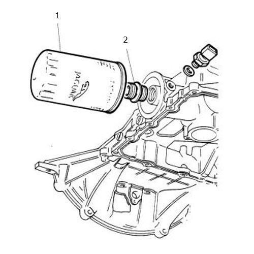 Oil Filter 4.0 Liter V8: Terrys Jaguar Parts